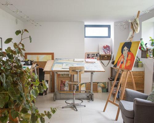 Bureau industriel de type studio photos et idées déco de bureaux