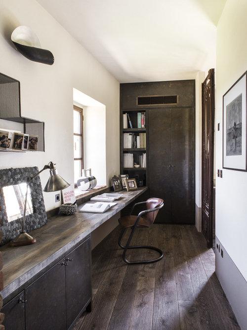 Farmhouse Black Home Office Design Ideas, Remodels & Photos