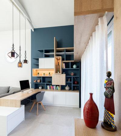 Contemporain Bureau à domicile by INTERIEURS CREATIFS