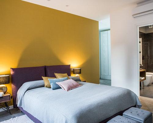 Camera da letto con pareti gialle foto e idee per arredare - Idee camere da letto piccole ...