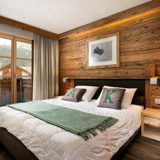 Foto e idee per arredare una casa in montagna - Camera da letto rustica moderna ...