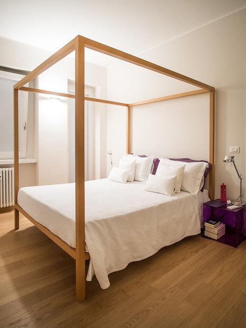 Camera da letto contemporanea con pareti beige foto e idee per arredare - Camera da letto beige ...