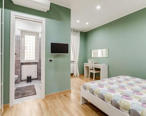 camera da letto con pareti verdi - foto e idee per arredare - Pareti Verdi Camera Da Letto