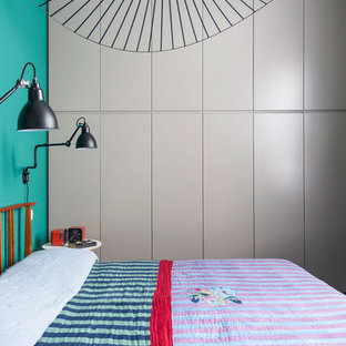 This is an example of a midcentury bedroom in Milan.