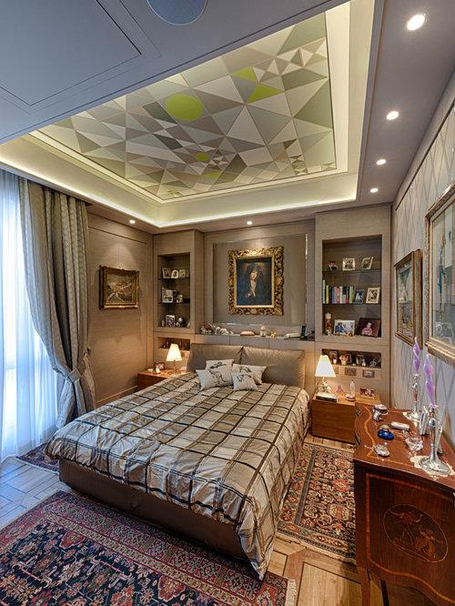 Camera da letto con pareti marroni - Foto e Idee per Arredare