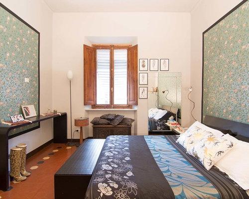 asiatische schlafzimmer mit terrakottaboden ideen design. Black Bedroom Furniture Sets. Home Design Ideas