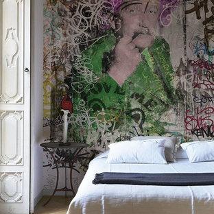 Carta da parati per camera da letto foto e idee houzz - Camera da letto con carta da parati ...