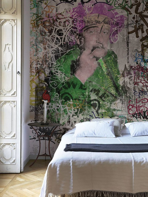 Carta da parati per camera da letto - Foto e idee   Houzz