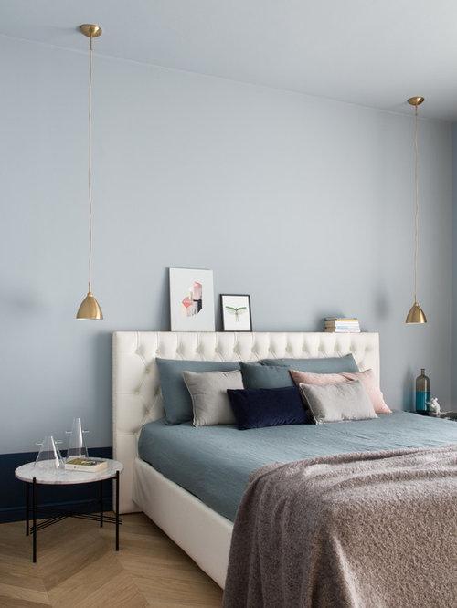 PARETE CAMERA DA LETTO BLU - Camere da letto moderne: 70 ...