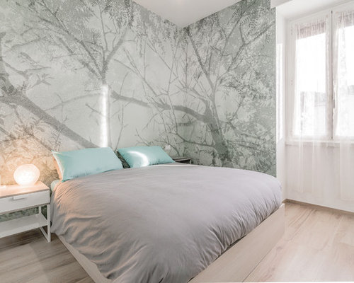 Carta da parati per camera da letto foto e idee houzz - Carta da parati per camera da letto ...