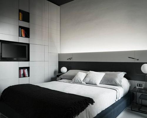 Camera da letto moderna con pareti bianche - Foto e Idee per Arredare