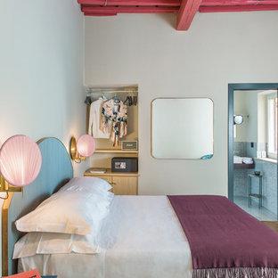 Diseño de habitación de invitados contemporánea pequeña