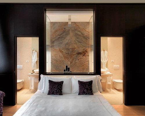 Camera Da Letto Padronale Significato : Grande camera da letto con parquet chiaro foto e idee per arredare