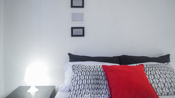 Home Staging | black & white con rosso