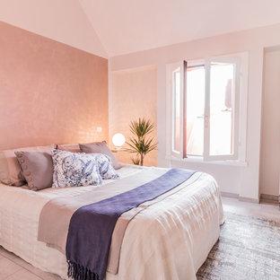 Immagine di una camera da letto stile marino