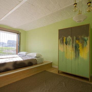 Loft verde-dorato in casa ringhiera   45 mq.