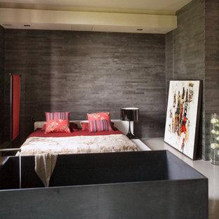 Minimalist bedroom photo in Bologna