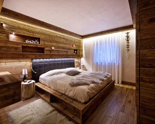 Camera da letto in montagna foto e idee per arredare - Camera da letto con parquet ...