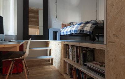 Le Case di Houzz: Pannelli in OSB Trasformano un Appartamento