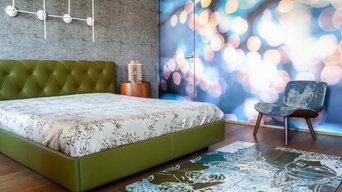 Parati e arredi di design per una camera da letto fuori dagli schemi