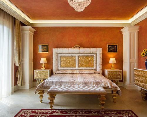 Camera da letto con pareti arancioni foto e idee per for Pitture per salotti
