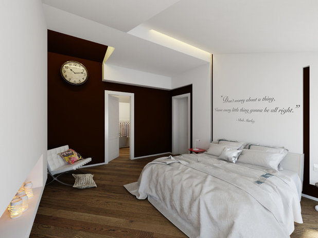 11 modi per personalizzare la parete del letto con una scritta - Poster da parete per camera da letto ...