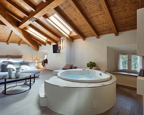 Camera da letto con camino lineare ribbon foto e idee per arredare - Camera da letto con camino ...