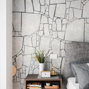 Immagine di una camera da letto minimal di medie dimensioni