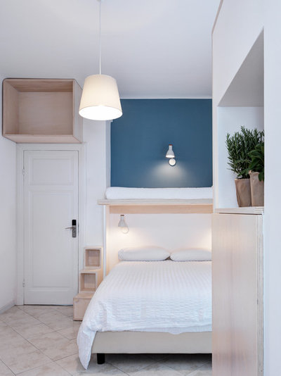 Contemporain Chambre by es-arch enricoscaramelliniarchitetto