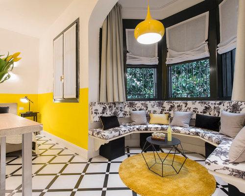 Camera da letto con pareti gialle - Foto e Idee per Arredare