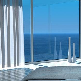 他の地域のビーチスタイルのおしゃれな寝室