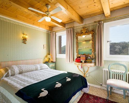 Camera da letto con pareti verdi - Foto e Idee per Arredare