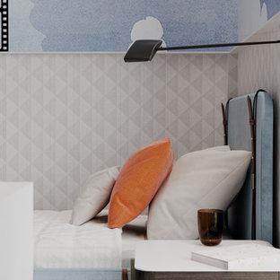 Неиссякаемый источник вдохновения для домашнего уюта: детская в скандинавском стиле с спальным местом, темным паркетным полом и панелями на стенах для мальчика