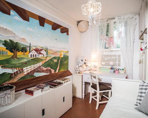 Chambre de fille romantique avec un bureau photos et idées déco