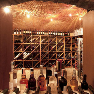 Inspiration for a country wine cellar in Milan.