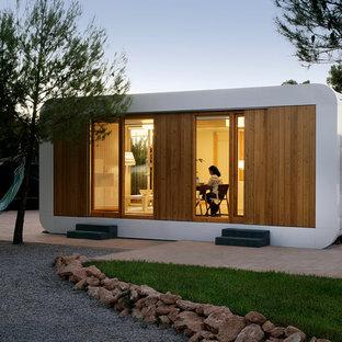 Diseño de estudio en el jardín independiente, contemporáneo, grande