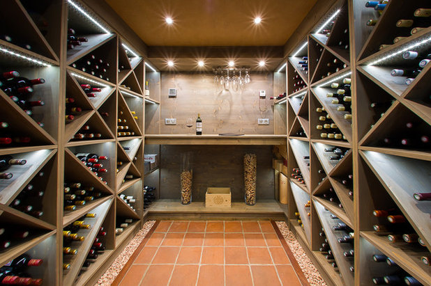 Contemporary Wine Cellar by CAVILUX