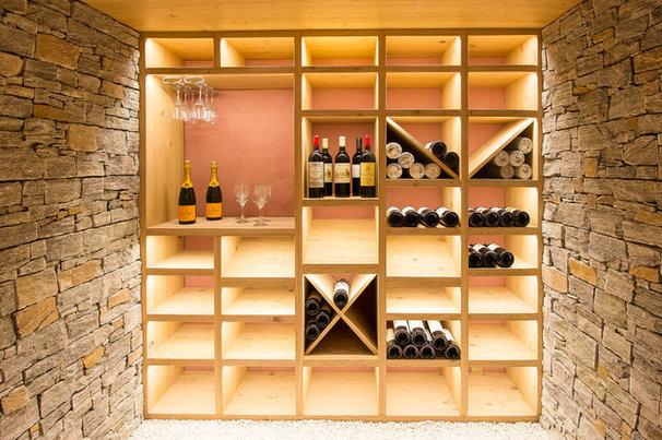sous sol de la semaine une cave vin d 39 inspiration chalet. Black Bedroom Furniture Sets. Home Design Ideas