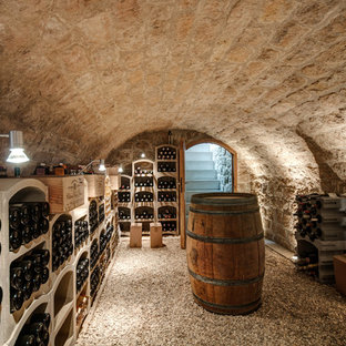 Exemple d'une cave à vin nature.