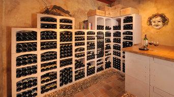 Wine cellar of Burgundy limestone