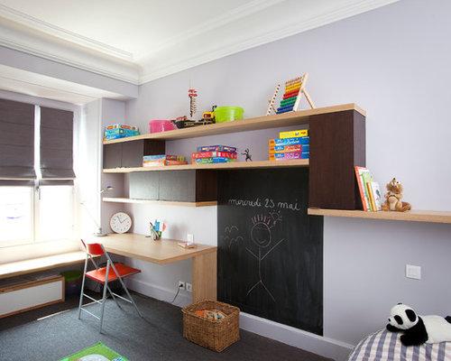 Chambre d\'enfant de 4 à 10 ans avec un mur violet : Photos et idées ...
