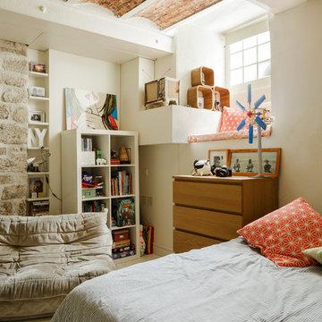 Chambre d'enfant dans un loft sur le 18e arrondissement de Paris