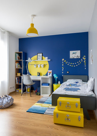 chambre d 39 enfant de la semaine des couleurs pop pour un petit gar on. Black Bedroom Furniture Sets. Home Design Ideas