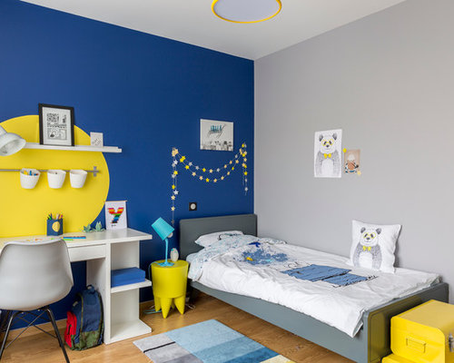 chambre d 39 enfant avec un mur multicolore photos et id es d co de chambres d 39 enfant. Black Bedroom Furniture Sets. Home Design Ideas