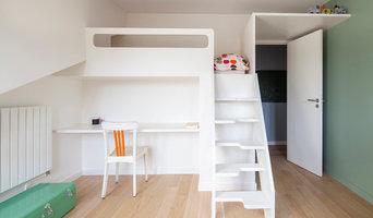 chambre enfant / mobilier sur mesure lit - bureau - rangements