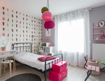 Chambre fillette rose romantique