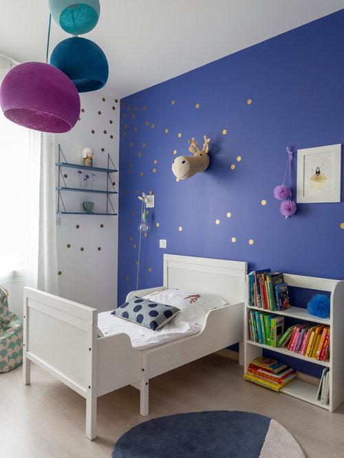 chambre petite fille bleu indigo - Chambre Petite Fille Design
