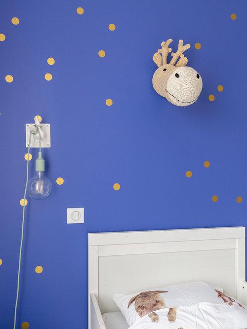 Chambre Petite Fille Bleu Indigo