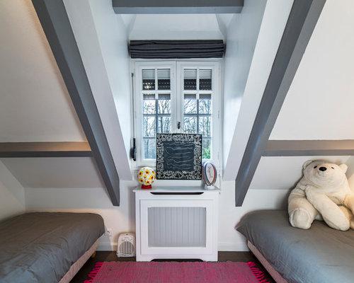 Chambre d 39 enfant poutre apparente grise photos et id es - Deco chambre avec poutre apparente ...