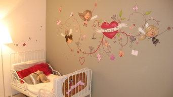 décoration personnalisée de chambres d'enfant